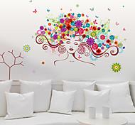 Мода / Цветы / люди Наклейки Простые наклейки Декоративные наклейки на стены,PVC материал Съемная Украшение дома Наклейка на стену