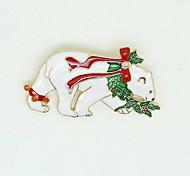 Weihnachtsfrauen weiße Eisbär Broschen
