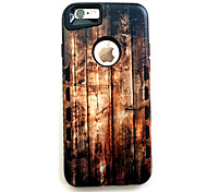 For iPhone 7 Case / iPhone 7 Plus Case / iPhone 6 Case Shockproof Case Back Cover Case Wood Grain Hard Rubber AppleiPhone 7 Plus / iPhone