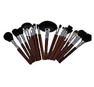 23 Makeup Brushes Set Mink Hair Portable Wood Face G.R.C