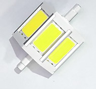 R7S 78mm COB SMD 6W Warm White / Cool White 600LM 220Beam Horizontal Plug Lights  Flood Light AC85-265V