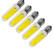 4W E14 Luzes de LED em Vela 4 COB 320-400 lm Branco Quente / Branco Frio Decorativa V 5 pçs