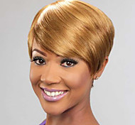 Short Straight Hair Honey Blonde Color Synthetic Wigs for Women