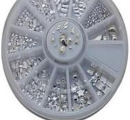 Manicure Metal Rivet Jewelry Jewelry Stickers Manicure Fake Diamond Studded Gold Silver 12 Nail Drill
