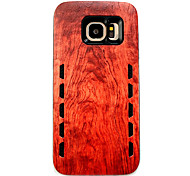 For Samsung Galaxy S7 edge  S7 Anti-Drop Type Redwood Wood Grain Pattern Rubber Combo Phone Case
