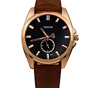 Yazole Men's Fashion Casual Quartz Watch Classis Personality Business Round Alloy Watch Cool Watch Unique Watch