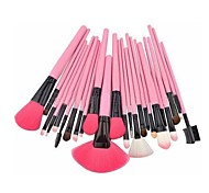 24 Makeup Brushes Set Horse Portable Wood Face G.R.C