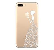 Назначение iPhone 8 iPhone 8 Plus iPhone 7 iPhone 6 Кейс для iPhone 5 Чехлы панели Ультратонкий Прозрачный С узором Задняя крышка Кейс для