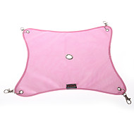 Pink Mesh Cloth Hammock Hanging Bed House for Ferret Guinea Pig 29x34cm Cool