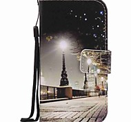For Samsung Galaxy S7 edge S7 S6 edge S6 Case Cover City Scenery Painting PU Phone Case S5 S4 S3
