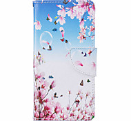 Plum Pattern Leather PU Leather Material Leather Phone Case for  Huawei P9 P9 Lite  Y5II  Y6II 5A
