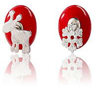 Earring Stud Earrings Jewelry Women Pearl Red