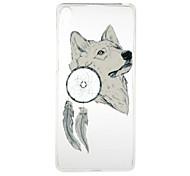 White Wolf Pattern High Permeability TPU Material Phone Case for  Xperia XA  Xperia E5
