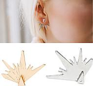 Women's Gold Silver Triangle Geometry Stud Earrings (1 Pair)