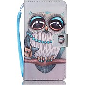 Owl  Painted Card Stent PU Leather Mobile Phone Holster Phone Case for Xperia XA Xperia E5