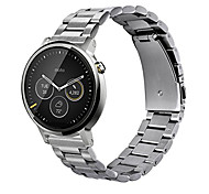 Magnetic Loop Stainless Steel Band for Men's 42mm MOTO 360 2nd Watch