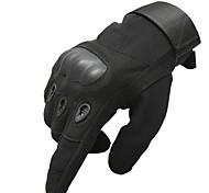 Sports Gloves Men's Cycling Gloves Winter Bike Gloves Anti-skidding Full-finger Gloves Polyester / Nylon Cycling Gloves/Bike Gloves Black