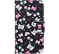 Kitten Pattern Leather PU Leather Material Leather Phone Case for  Motorola Moto G4 Plus MOTO G4
