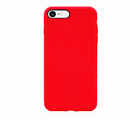 For iPhone 7 Case / iPhone 7 Plus Case Shockproof Case Back Cover Case Solid Color Soft TPU Apple iPhone 7 Plus / iPhone 7