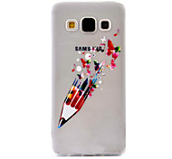 Pencil Pattern Case Back Cover Case  Soft TPU For Samsung A5 / A3