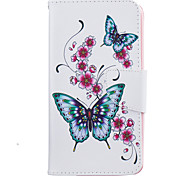 For LG K10 K8 Butterfly Pattern Painting PU Material Phone Cover For LG LG K10 K8 K7