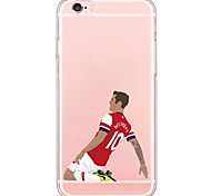 iPhone 7 7Plus Cartoon Sports StarsTPU Ultra-thin Translucent Soft Back Cover for Apple iPhone 6s 6 Plus 5s 5 5E
