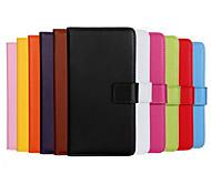 coco Fun® Luxus ultral slim einfarbig Ledertasche für iPhone 4 / 4S