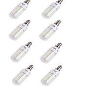 4W E14 Bombillas LED de Mazorca T 48 SMD 5730 250 lm Blanco Cálido Decorativa V 8 piezas