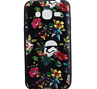 For Samsung Galaxy J3 J3(2016) ON5 Case Cover Flower Pattern Black TPU Material Phone Shell