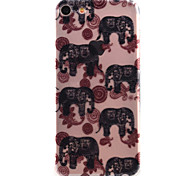 For iPhone 7 Case / iPhone 6 Case / iPhone 5 Case Ultra-thin / Pattern Case Back Cover Case Elephant Soft TPU AppleiPhone 7 Plus / iPhone
