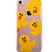 For iPhone 7 Case / iPhone 6 Case / iPhone 5 Case Transparent / Pattern Case Back Cover Case Cartoon Soft TPU AppleiPhone 7 Plus / iPhone