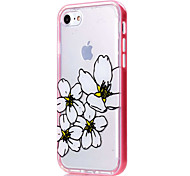 For iPhone 7 Case / iPhone 6 Case / iPhone 5 Case Transparent / Pattern Case Back Cover Case Flower Soft TPU AppleiPhone 7 Plus / iPhone