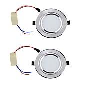 LED a incasso Bianco caldo / Luce fredda LED 2 pezzi
