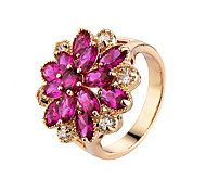 Colorful Cz Diamond Ring Classic  New Rose Gold Plated Party Jewelry Rings For Women Bijoux Cute Gift finger ring