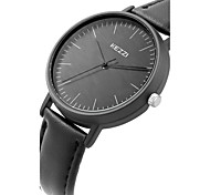 Kezzi® Ladie's/Women's Fashion Simple Casual Quartz Watch Leather Belt Round Alloy Dial Wrist Watch Cool Watch Unique Watch