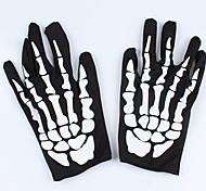 1PC God Of Death  Bone Cloth Gloves For Halloween Costume Party