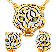 Luxury Unique Tiger 18k Gold/Platinum Plated Necklace & Earrings Jewelry Sets For Women Gift S20187