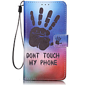 One hand Pattern PU Leather Lanyard phone Case for LG K7 LG LS775/STYLUS2