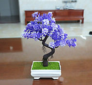 Set of 1 PCS 1 Branch Artificial Mini Bonsai Pine Tree Plant Home Decoration Long 9.4(inch)
