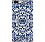 Für iPhone 7 Hülle / iPhone 7 Plus Hülle Muster Hülle Rückseitenabdeckung Hülle Mandala Weich TPU Apple iPhone 7 plus / iPhone 7