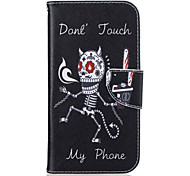 Skeleton Pattern Leather PU Leather Material Leather Phone Case for  Motorola Moto G4 Plus / MOTO G4