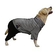 Dog Coat / Clothes/Jumpsuit Black Dog Clothes Winter Color Block Keep Warm / Reversible