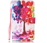 For LG LS775 STYLUS2 Color Tree Pattern PU Leather Lanyard phone Case for LG K7 LG LS775 STYLUS2