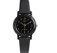 CASIO Quartz Female Watch with Black Dial Black Rubber Strap LQ-139AMV-1L