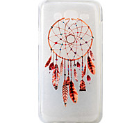 For Samsung Galaxy J5 Feather Wind Chimes Pattern Painting Diamond Transparent TPU Material Phone Case