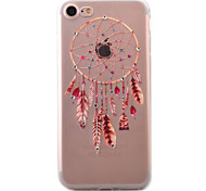 For iPhone 7 Case / iPhone 7 Plus Case / iPhone 6 Case Transparent / Pattern Case Back Cover Case Dream Catcher Soft TPU AppleiPhone 7