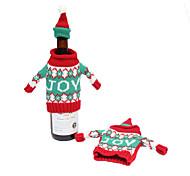 navidad adornos cubierta de la botella de vino de Navidad