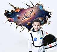 3D Dream Space Planet Fantasy 3D Wall Stickers Fashion Living Room Bedroom Wall Decals Environmental