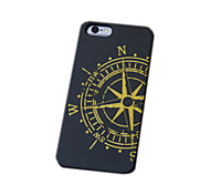 Black Wood iphone Case Compass the North Carving Concavo Convex Hard Back Cover for iPhone 6s Plus/iphone 6 Plus