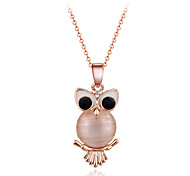 Fashion Cute Style Gold Tone Owl Pendant Necklace